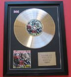 IRON MAIDEN - Number Of The Beast CD / PLATINUM PRESENTATION DISC